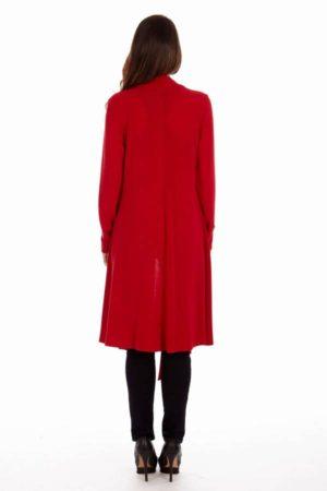 Red Drape Cardigan