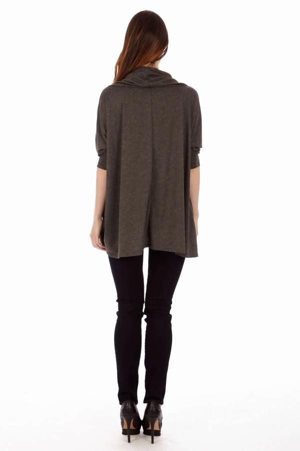 Dark Grey Long Sleeve Tunic