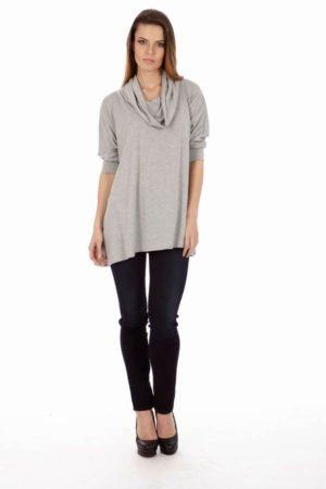 Light Grey Long Sleeve Tunic