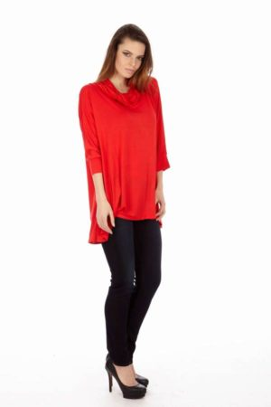 Red Long Sleeve Tunic