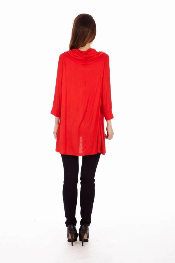 Red Long Sleeve Tunic