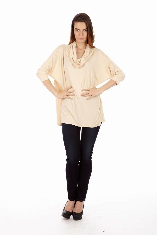 Cream Long Sleeve Tunic