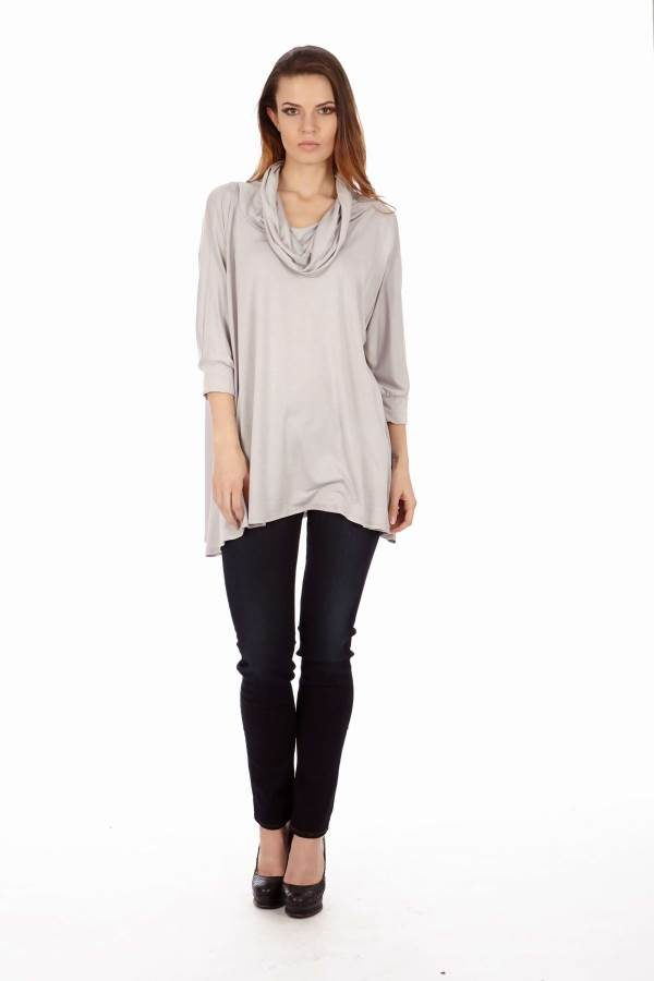 Silver Long Sleeve Tunic