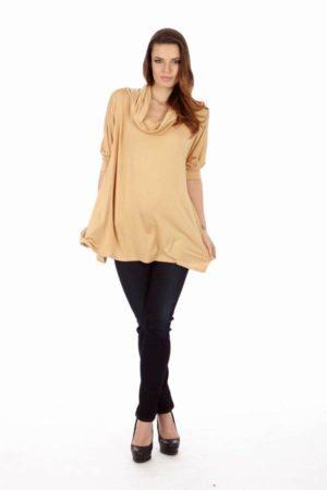 Tan Long Sleeve Tunic