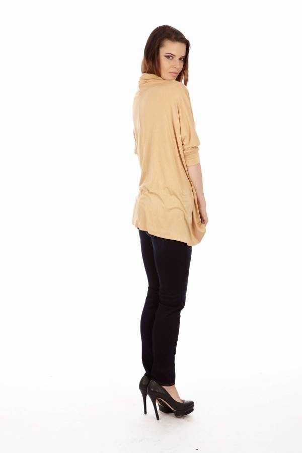 Tan Long Sleeve Tunic
