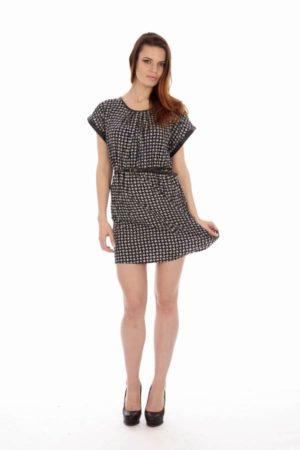Black & White Stacy Tee-Dress