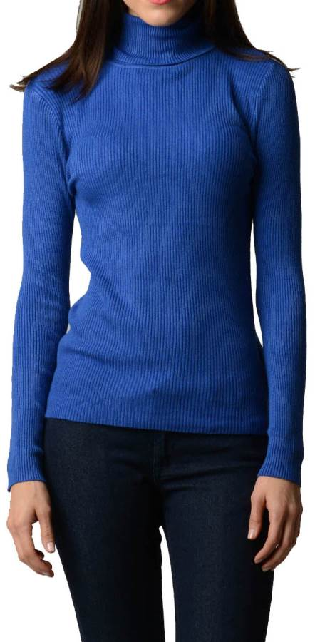 Royal Blue Turtleneck Sweater