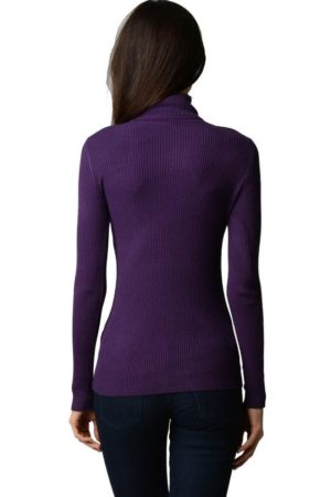Purple Turtleneck Sweater