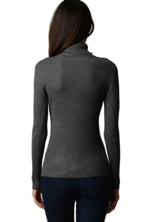 Dark Grey Turtleneck Sweater