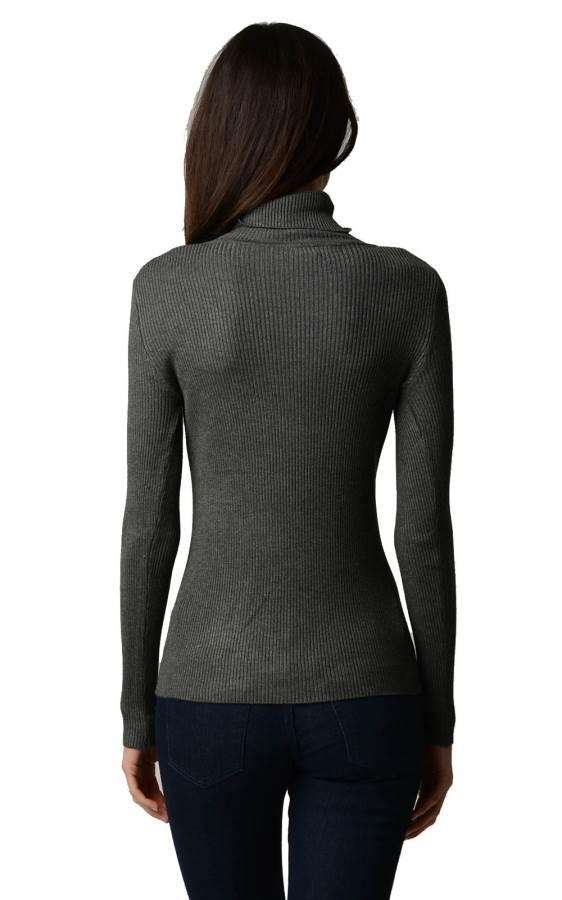 Dark Grey Turtleneck Sweater