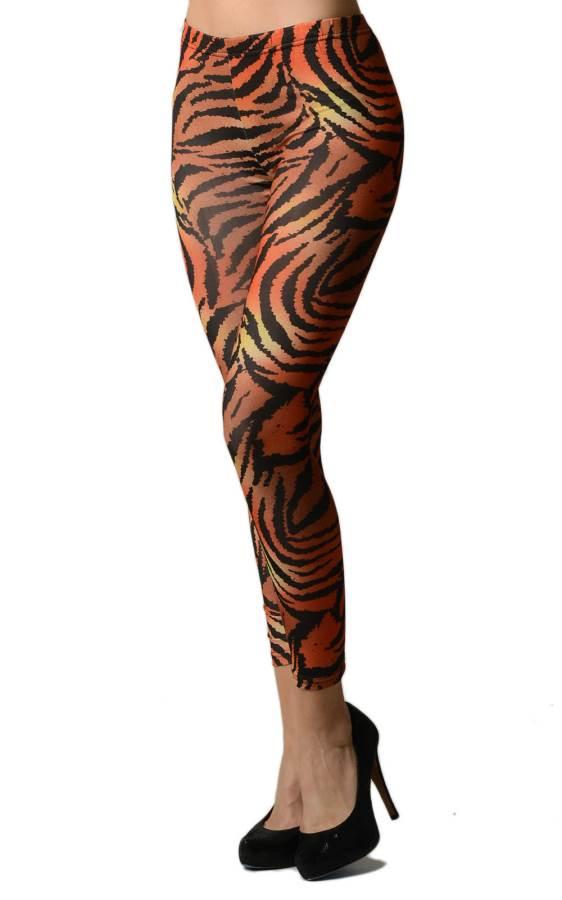 Tiger Print Footless Leggings