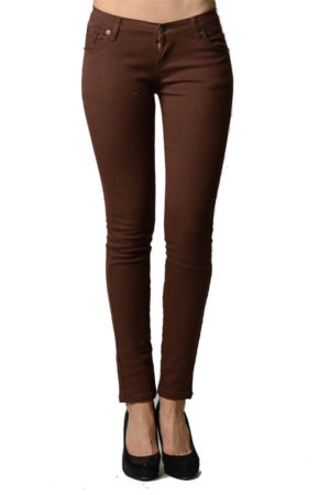 Brown Colored Denim - Skinny Jeans