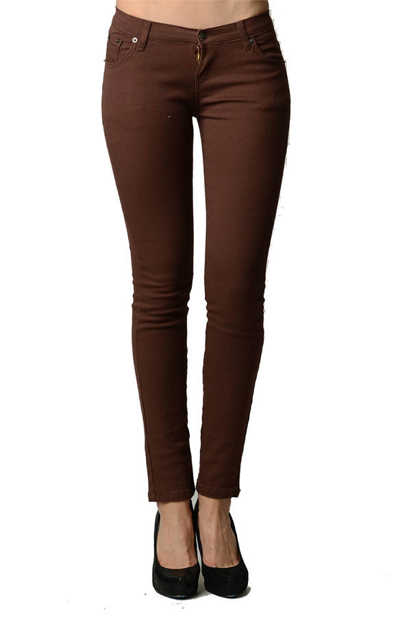 Brown Colored Denim - Skinny Jeans