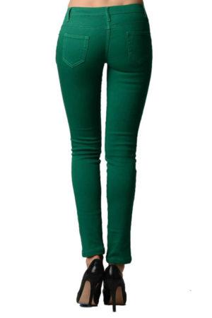 Jade Colored Denim - Skinny Jeans