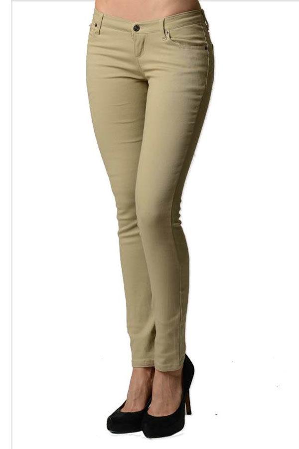 Beige Colored Denim - Skinny Jeans
