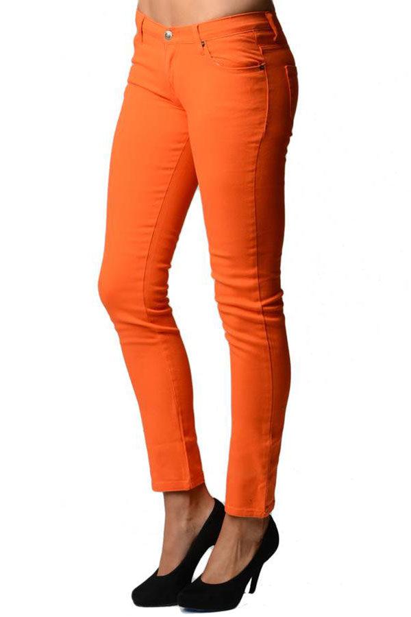 Orange Slim Fit Denim Skinny Jeans