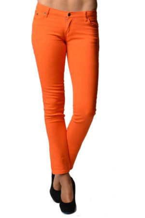 Orange Slim Fit Denim Skinny Jeans