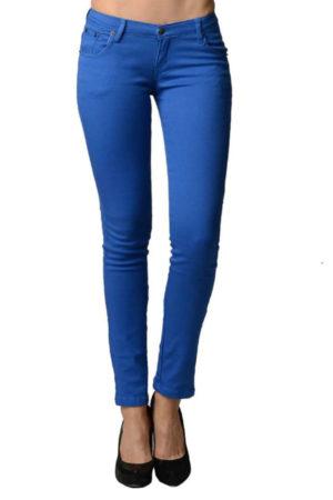 Royal Blue Colored Denim Skinny Jeans