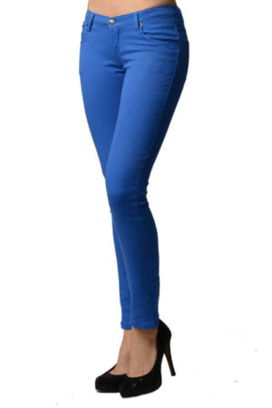 Royal Blue Colored Denim Skinny Jeans