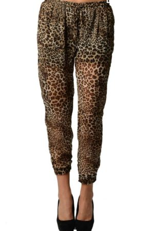 Leopard Print Chiffon Harem Pants