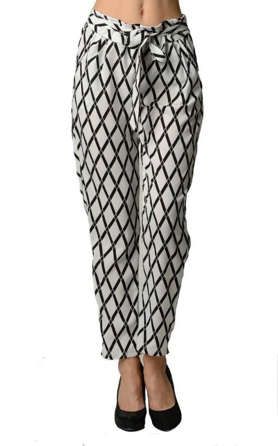 Diamond Print High Waist Harem Pants