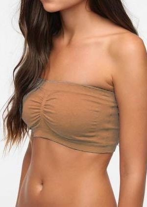 Seamless Ruched Bandeau Plus Size Nude Bra