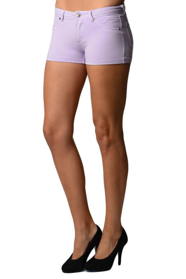 Purple Brazilian Moleton Shorts