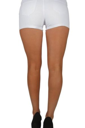 White Brazilian Moleton Shorts