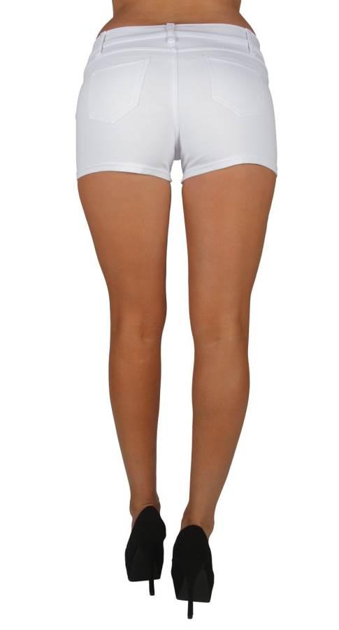 White Brazilian Moleton Shorts