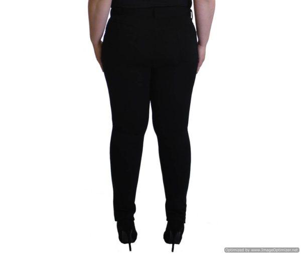 Plus-Size Black Slim Fit Pants