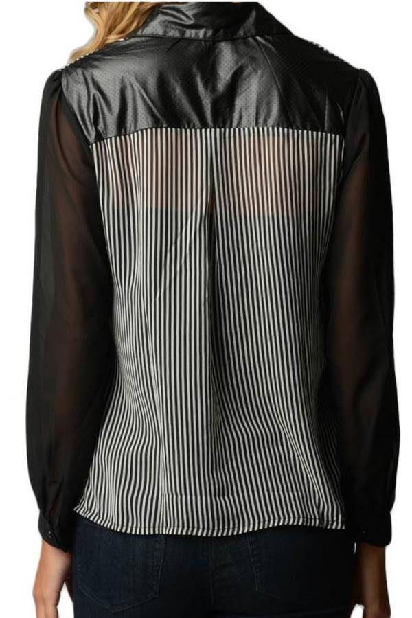 Striped Chiffon Shirt