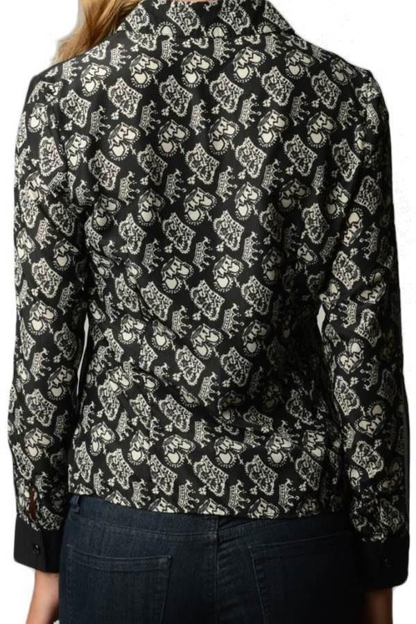 Crown Printed Chiffon Shirt BACK