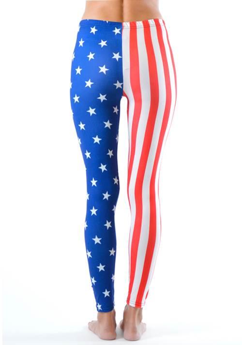 American Stars And Stripes Flag Print Leggings