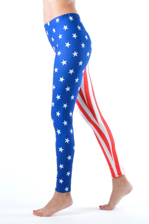 American Stars And Stripes Flag Plus Size Leggings