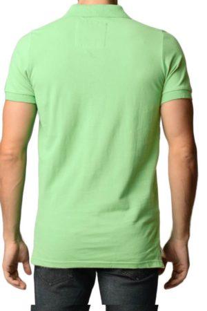 Men's Cotton Slim Fit Apple Polo Shirt