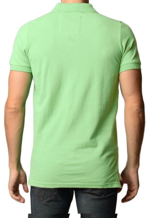 Men's Cotton Slim Fit Apple Polo Shirt