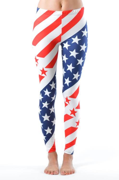 USA Olympic Style Plus Size Leggings