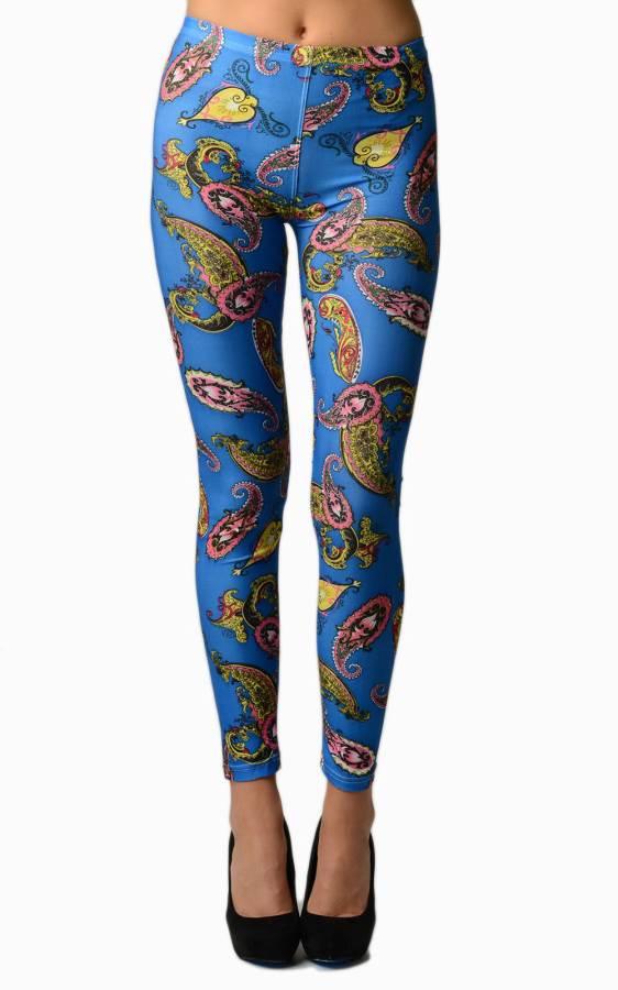 Blue Bandana Plus Size Leggings