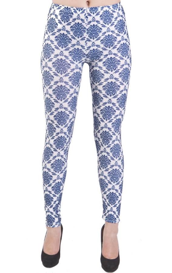 Blue Vintage Royalty Blue Plus Size Leggings