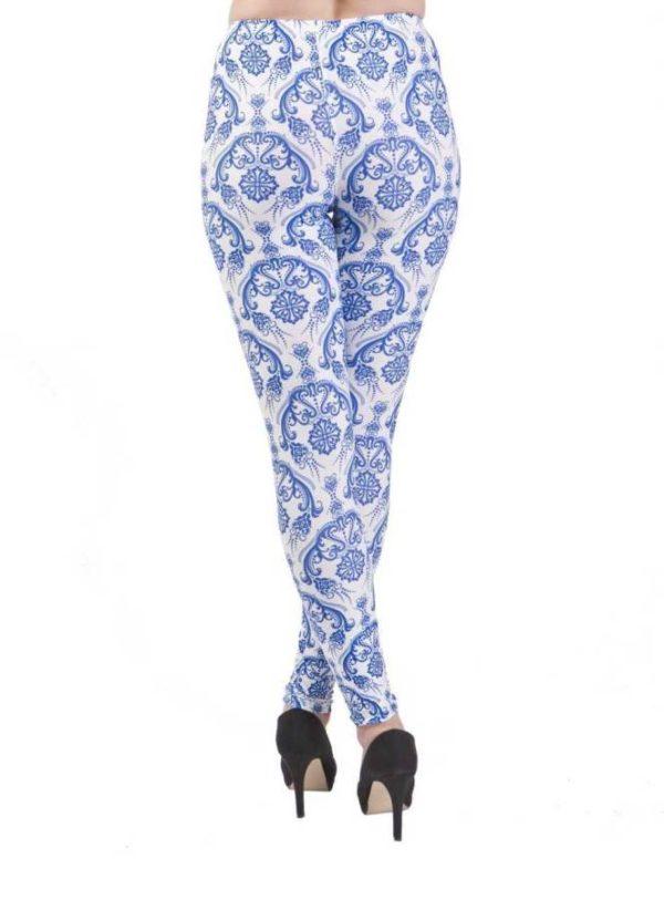 Vintage Flair Blue Plus Size Leggings