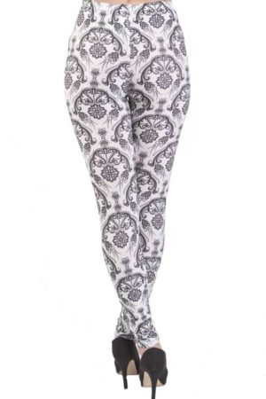 Vintage Flair Black Plus Size Leggings