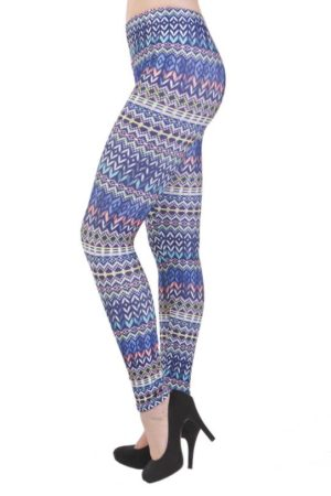 Tribal Blue Plus Size Leggings