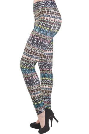 Tribal Multi-Colored Plus Size Leggings