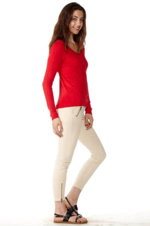 Women's Red Knit Cardigan