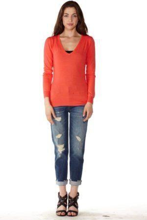 Red V-Neck Sweater