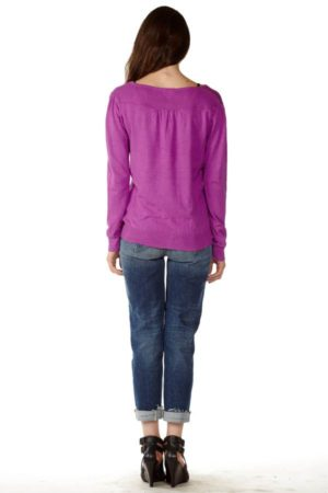 Purple V-Neck Sweater