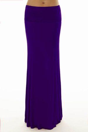 Foldover Purple Maxi Skirt