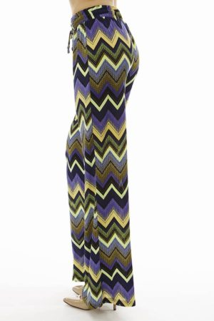 Purple Wide Leg Palazzo Pants
