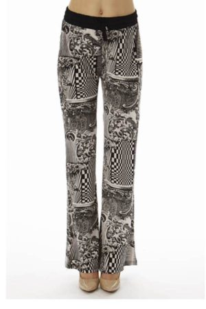 Abstract Checkered Palazzo Soft Pants