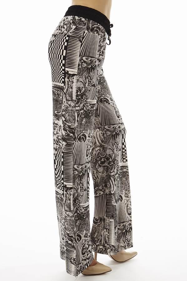 Abstract Checkered Palazzo Soft Pants